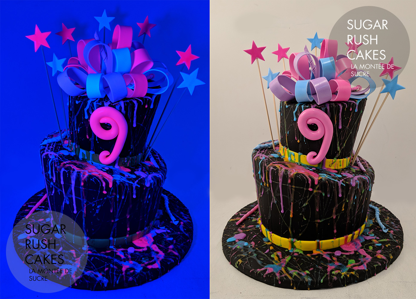 Miraculous Glow In The Dark Cake Sugar Rush Cakes Personalised Birthday Cards Veneteletsinfo