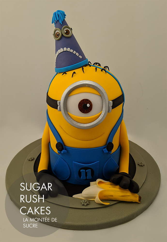 Enjoyable Minion Birthday Cake Sugar Rush Cakes Funny Birthday Cards Online Inifofree Goldxyz
