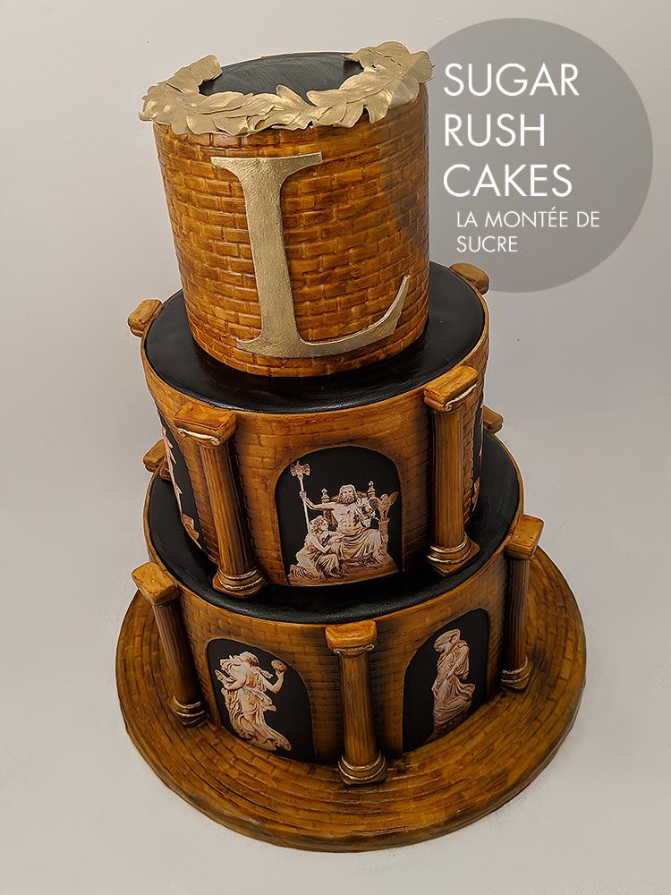 Greek god cake