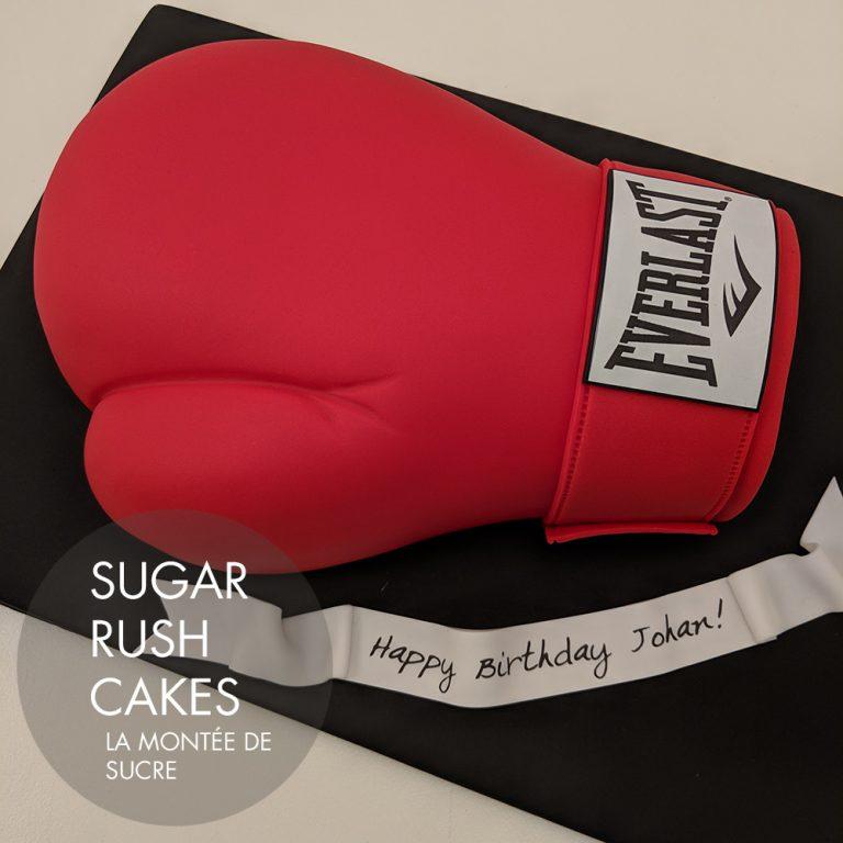 boxing glove cake