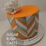 pastel chevron cake
