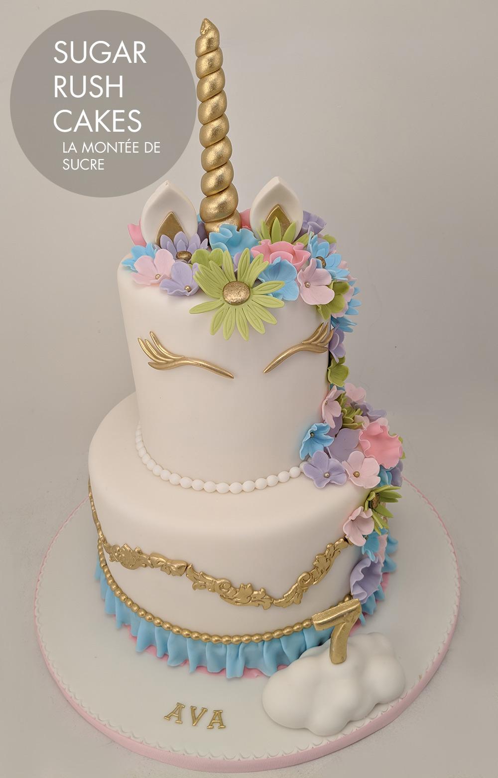 Elegant Unicorn Cake