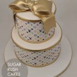 White Louis Vuitton cake