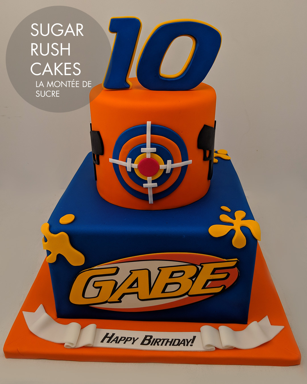 Nerf paintball cake