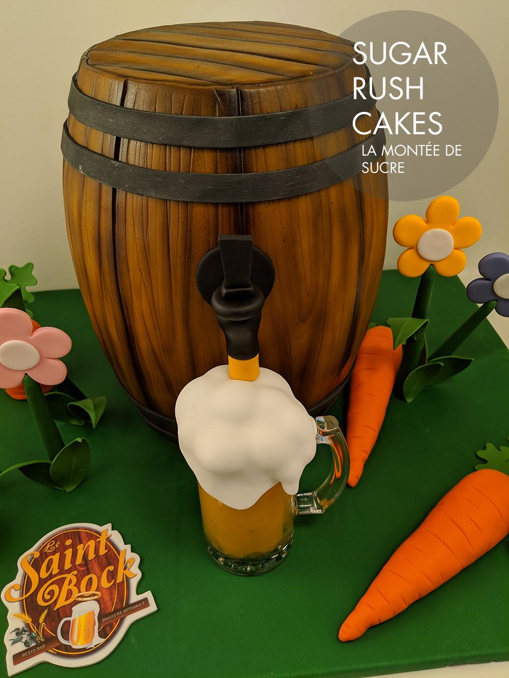 Le Saint Bock Beer Keg Cake