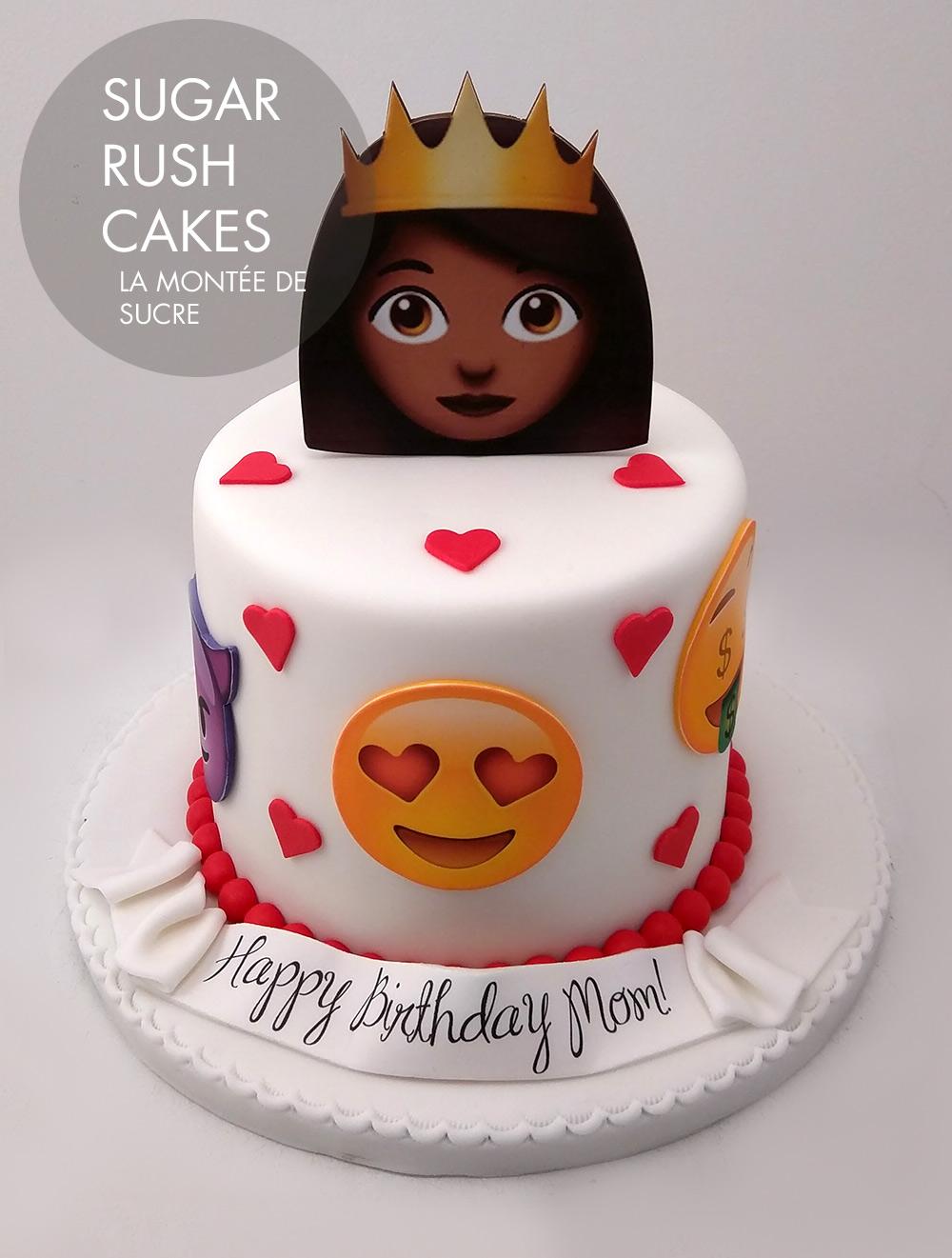 Princess emoji cake