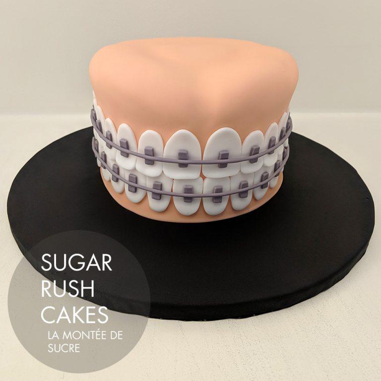 orthodontist cake