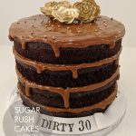 Dirty thirty brownie cake